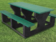 100% Recycled Picnic Tables