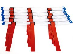ClickPro Flag Belt System Adjustable Red Set of 6, Large