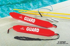 Durable rescue tubes for swimming pools