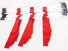 Rip Flag Quick-Release Flag Belt System - 6 Player Set, Medium, Red Flags