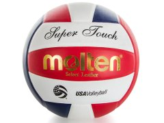 Red white and blue super touch volleyball