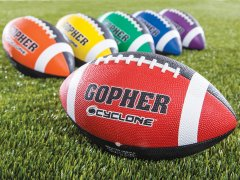 Rainbow® Cyclone™ Rubber Footballs