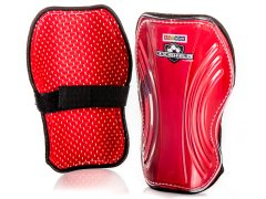 "Gopher KickShield Shin Guards - 7"", Red, Pair"