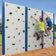Two-Sided Outdoor Climbing Walls
