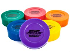 Rainbow PowerPlay PVC Floor Hockey Pucks - Set of 6