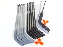 12-player 52 inch hockey stick set
