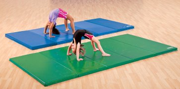 Beginner gymnastics mats in custom colors for kids.