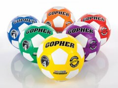 Rainbow Gopher Performer - Rubber Soccer Ball, Size 4, Set of 6