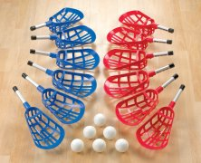 Relax Mini Scooter Lacrosse Set of 12 w/6 balls