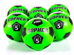 Screamin' Green Rubber Soccer Balls - Size 5, Set of 6