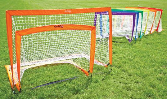 Gopher QwikPro™ Rectangular Pop-Up Soccer Goals
