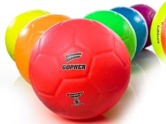 Screamin' Rainbow SoftScore Coated-Foam Soccer Balls - Size 5, Set of 6