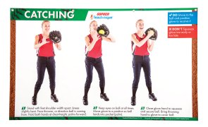 Baseball catching instructional poster