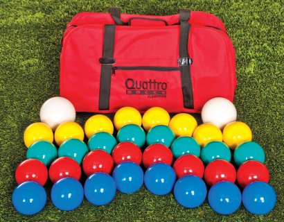 Bocce ball set with storage bag