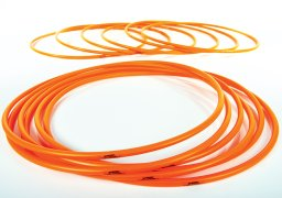 Orange 36 inch hula hoops