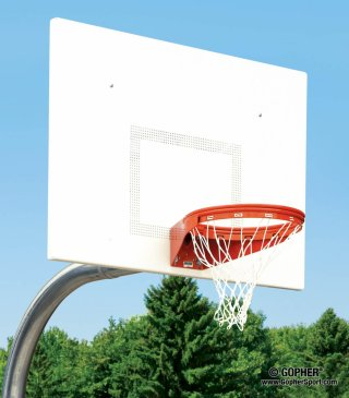 Close up of heavy-duty basketball net