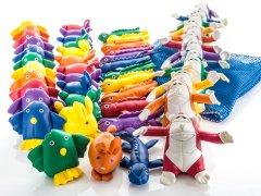 Rainbow Land Animals Beanbag Pack, Set of 48