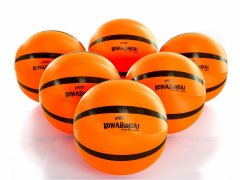 "Set of 6 18"" diameter neon orange beach balls"