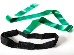 ACTION! DragN Tails Flag Belts - Green and Yellow, Set of 24