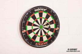 Black, red and green dartboard