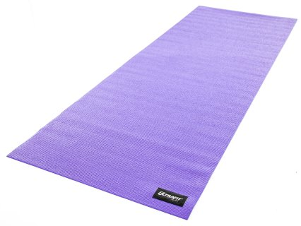Front facing view of 1/8 inch thick purple mat