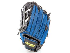 Blue baseball glove