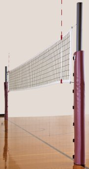 Indoor volleyball net with padding