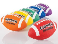 Gopher Rainbow Performer - Rubber Footballs, Size 5, Set of 6
