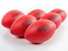 Set of 6 red soft play footballs