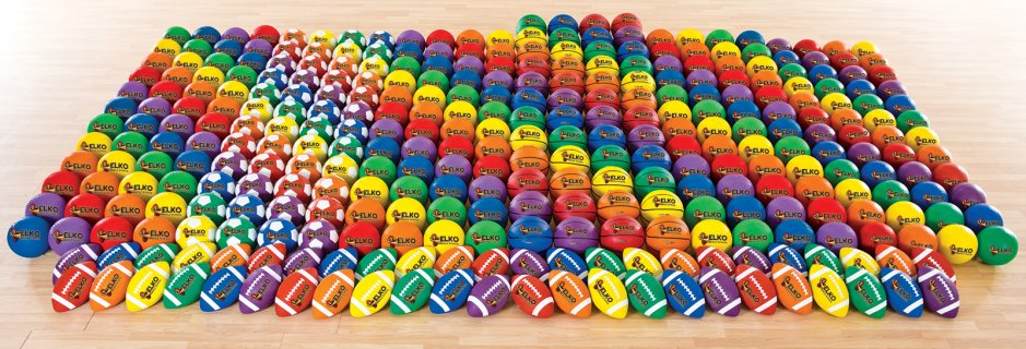 Large custom logo rubber ball middle school/junior high set