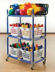 Full storage cart for bowling set