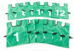 FitPro Competitor Numbered Pinnies - Large, Green, Set of 12