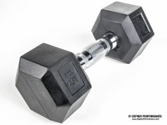 UltraFit™ Rubber-Coated Hex Dumbbell Sets with Racks