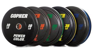 PowerColor™ Rubber Bumper Weight Lifting Plates