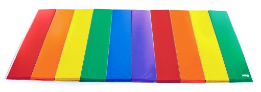 Rainbow 10ft by 15 ft tumbling mat