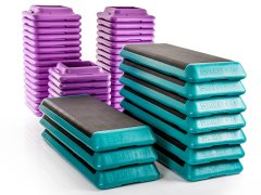The Step - 10 Platforms w/ 40 Risers, Teal/Purple