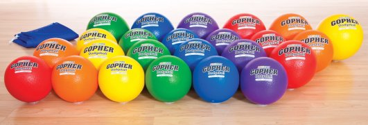 Colored dodgeballs