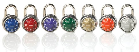 color options for dial on padlocks with keyway