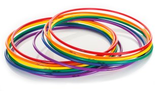 "Rainbow DuraHoop Hoops - 36"" dia, Set of 12"
