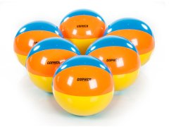 Set of 6 beach balls with 15 inch diameter
