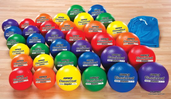 Rainbow® Coated-Foam Dodgeball Pack