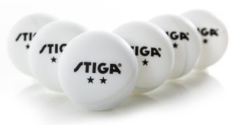Stiga 2 Star Table Tennis Balls - White, Package of 6
