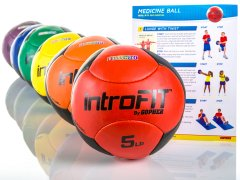 Rainbow IntroFit Medicine balls and instructional poster