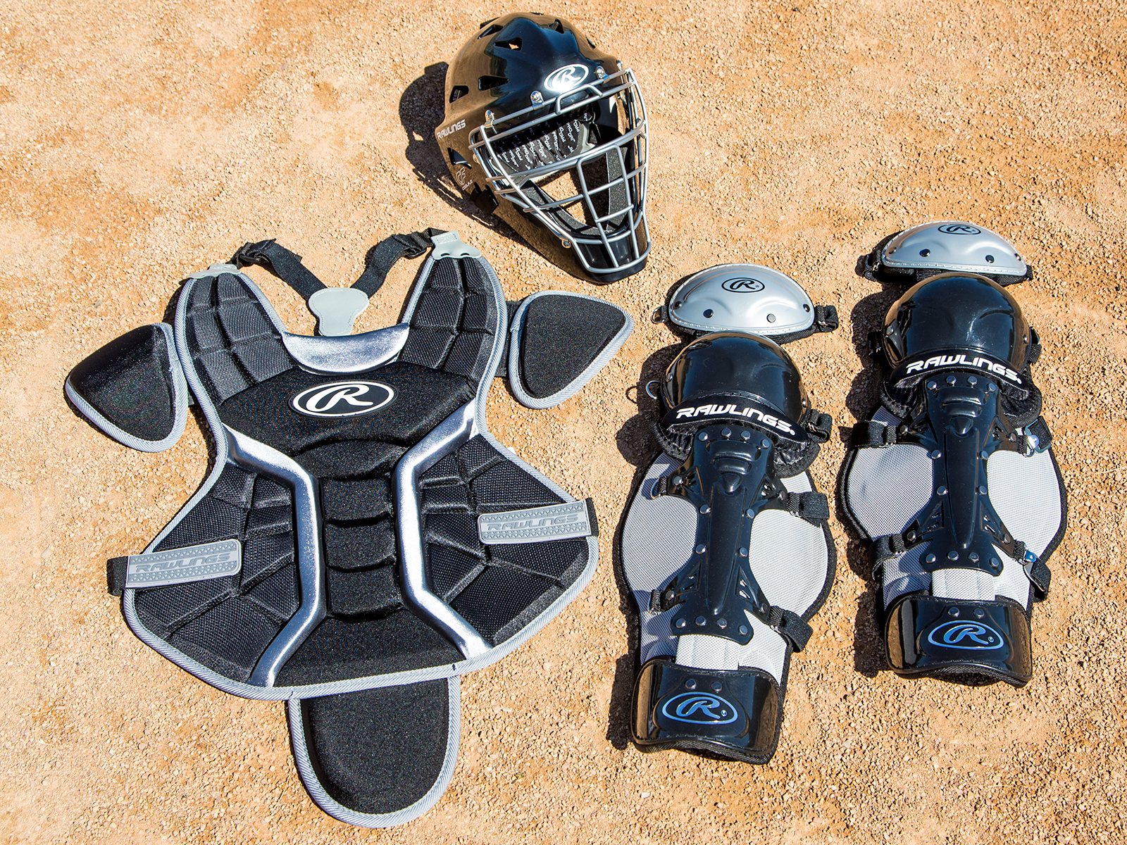 Complete catcher's gear set for school team