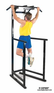 This station makes a great pull up bar for exercise!