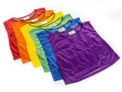 Rainbow FitPro RelaxFit Competitor Mesh Vests Medium, Set of 6
