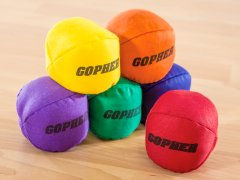 Complete set of rainbow colored balls