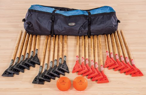 24-player set of broomball equipment