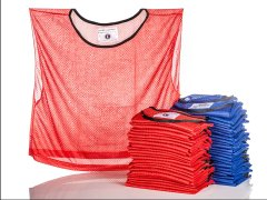 RelaxFit Competitor Mesh Vest - Large, Red/Blue, Pack of 30