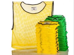 FitPro RelaxFit Champion Mesh Vest - XLarge, Yellow/Green, Pack of 50